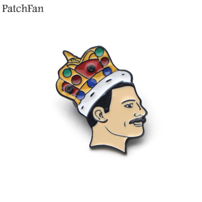20pcs/lot Patchfan Singer Freddie Mercury Metal Zinc pins pride badges para backpack shirt clothes bag Craft brooches A0658-in Badges from Home & Garden    1