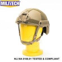 ISO сертифицированный MILITECH CB NIJ уровень IIIA 3A Быстрый OCC лайнер высокий XP Cut пуленепробиваемый арамидный баллистический шлем с 5 лет гарантии