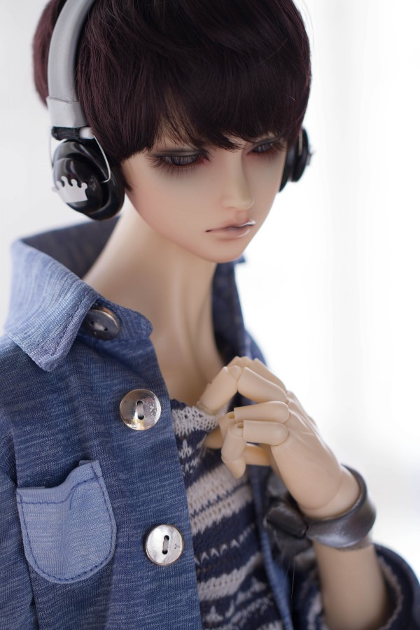 Donut White Toy New Prop BJD Doll Dollfie Soundplay 1//3 Scale SD Headphones