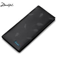DEELFEL New Men Wallets Genuine Leather Purse Fashion Men Walet Luxury Clutch Bags Soft Leather Business Male Money Wallet