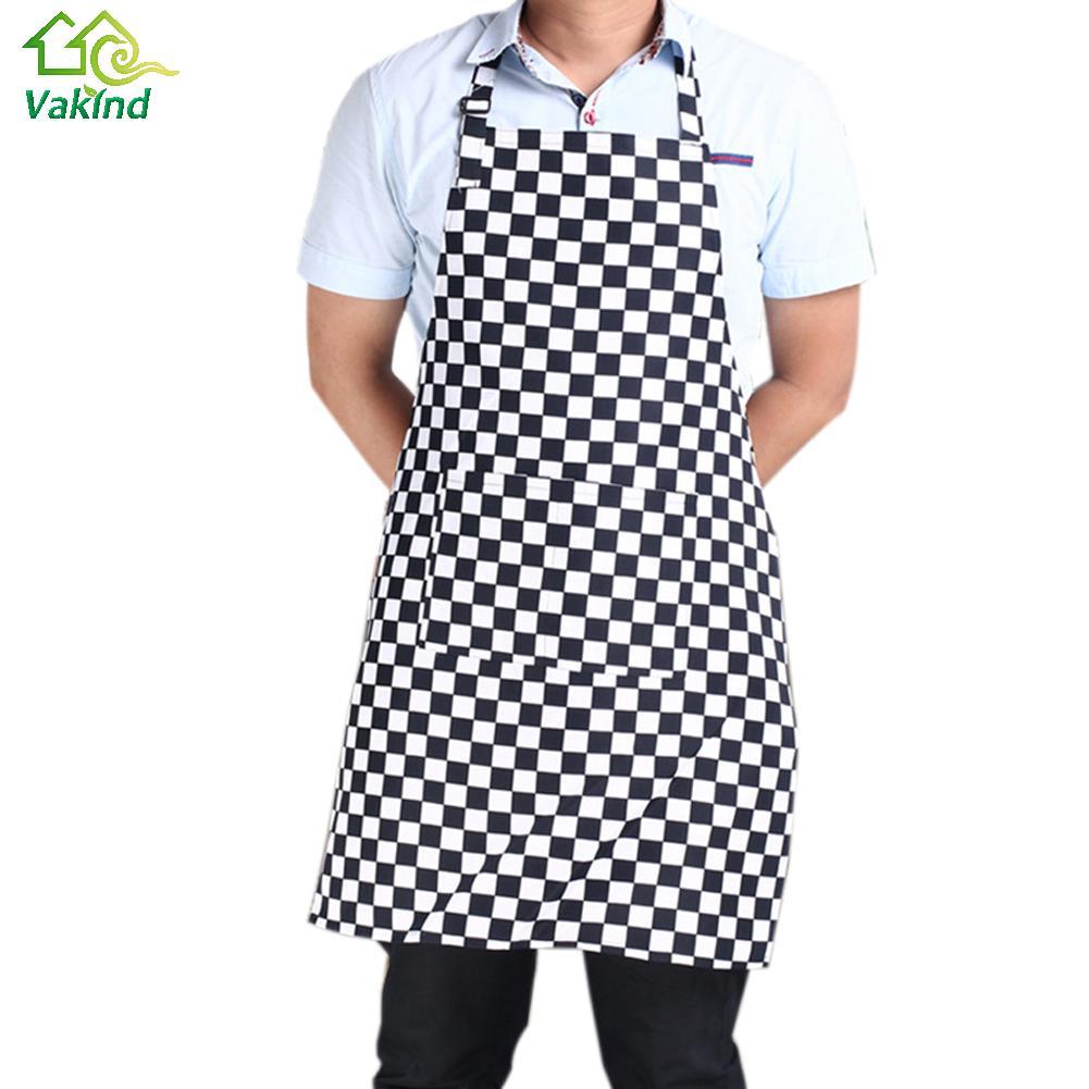 Plain white kitchen apron - Hot Mens Womens Plain Lattice Kitchen Apron With Front Pocket Chefs Butchers Cooking Baking Kitchen Accessories