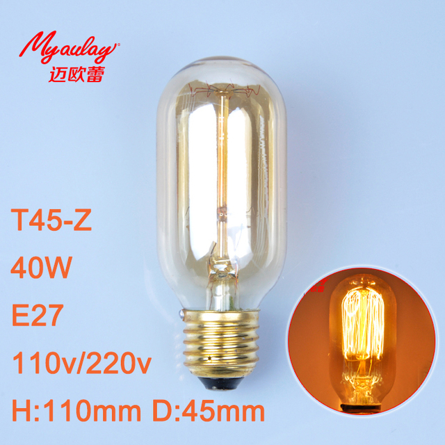 incandescent bulb edison design st45 z 40w tungsten wire light bulb rh aliexpress com Commercial Fluorescent Light Fixtures Incandescent Luminaire Light Fixtures
