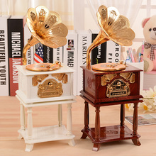 Classical phonograph golden music box, Christmas gifts, creative decorative furnishing articles, birthday present