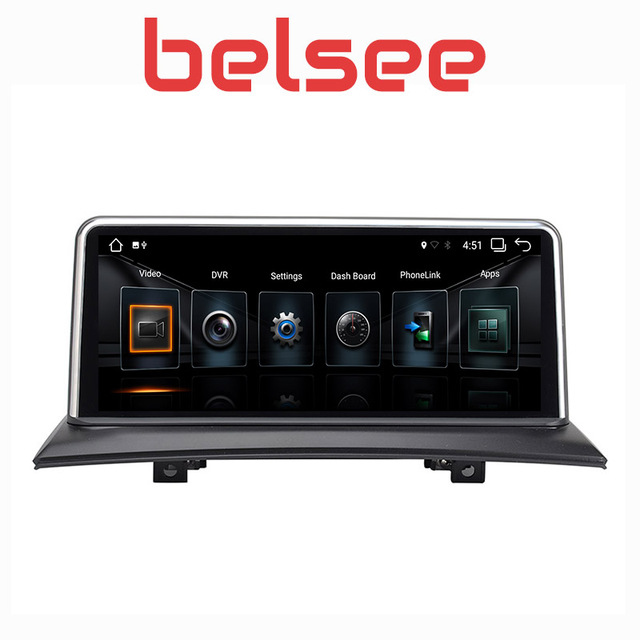 "Belsee 10,25 ""Android 8,1 6 Core Сенсорный экран gps навигации Мультимедиа автомобилей Радио Стерео Авторадио для BMW X3 E83 2004-2009"