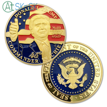 1/3/5/10pcs Gold/Silver Plated Coin Medal U.S. Flag President Donald Trump Eagle Coins Collectibles Commemorative Coin Gifts 40mm america president donald trump commemorative coin gold plated colorful metal coin with plastic case