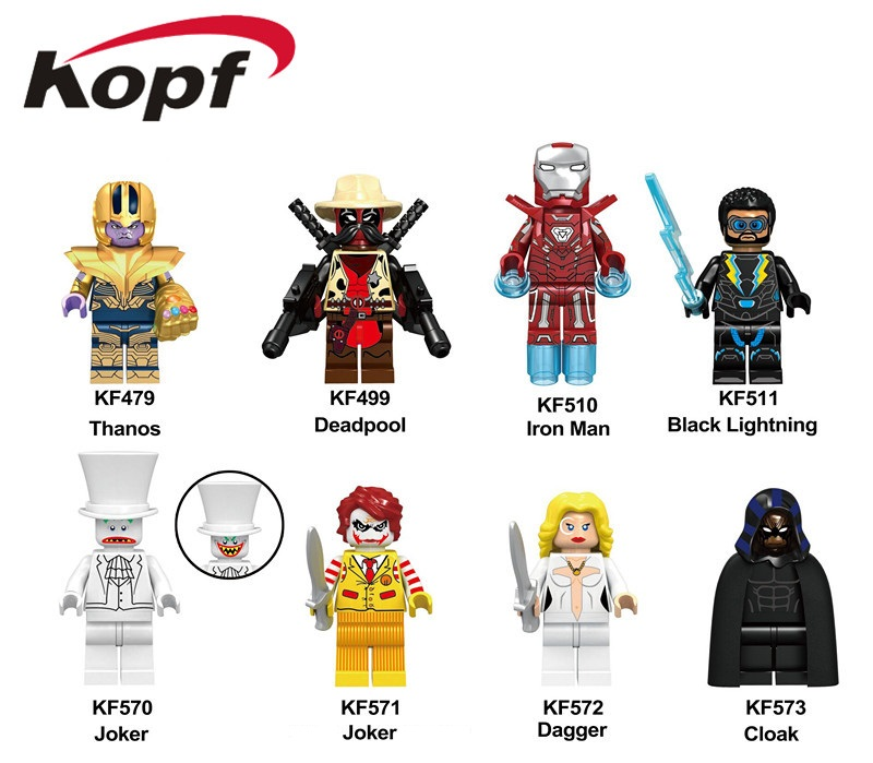 KF6046 Single Sale Super Heroes Dagger Series Joker Bricks Model Cloak Colletion Building Blocks Figures Children Best Toys