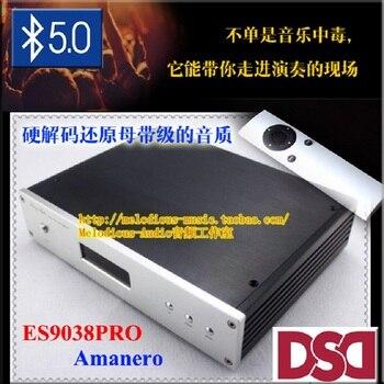 ES9038 ES9028PRO ES9018 DAC audio decoder Amanero USB interface Ondersteuning DSD coaxiale optische met Afstandsbediening Schild usb-kabel