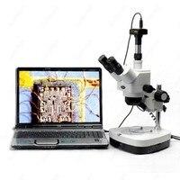 Stereo Mikroskop Çift Halojen-AmScope Malzemeleri 10X-80X Stereo yakınlaştırmalı mikroskop Çift Halojen + 10MP dijital kamera