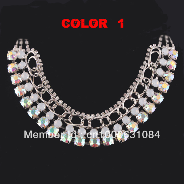 2013 New Arrival Free Shipping Fashion Wedding/Bridal Jewelry Colorful Acrylic Necklace Costume Accessory Factory Hand Made 0072