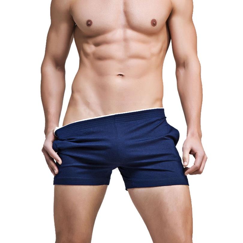 Men/'s Boxer Trunks Underwear Sleep Bottoms Shorts Loose Lounge Pajama Nightwear