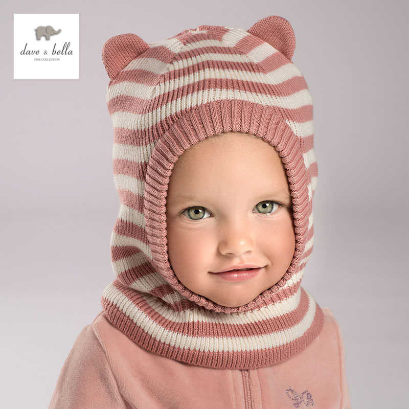 612d69fe3f8 DB3759 dave bella winter baby boy navy striped hat girls pink textile hat  with lining