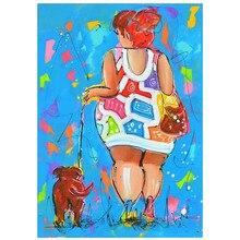 DIY 5D diamond painting (women hyena) abstract cross stitch mosaic embroidery rhinestone decoration crafts
