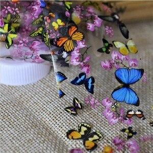 Image 2 - 1ボトルネイルアート転写箔ネイルステッカーヒントデカール装飾デザインdiyの蝶梅の花のマニキュアツール