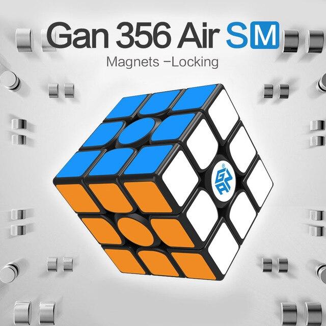 Cube de vitesse de SM d'air de GAN 356 avec des aimants plaçant des Cubes de surface de contact de nid d'abeilles de système magique de magnéto de supervitesse