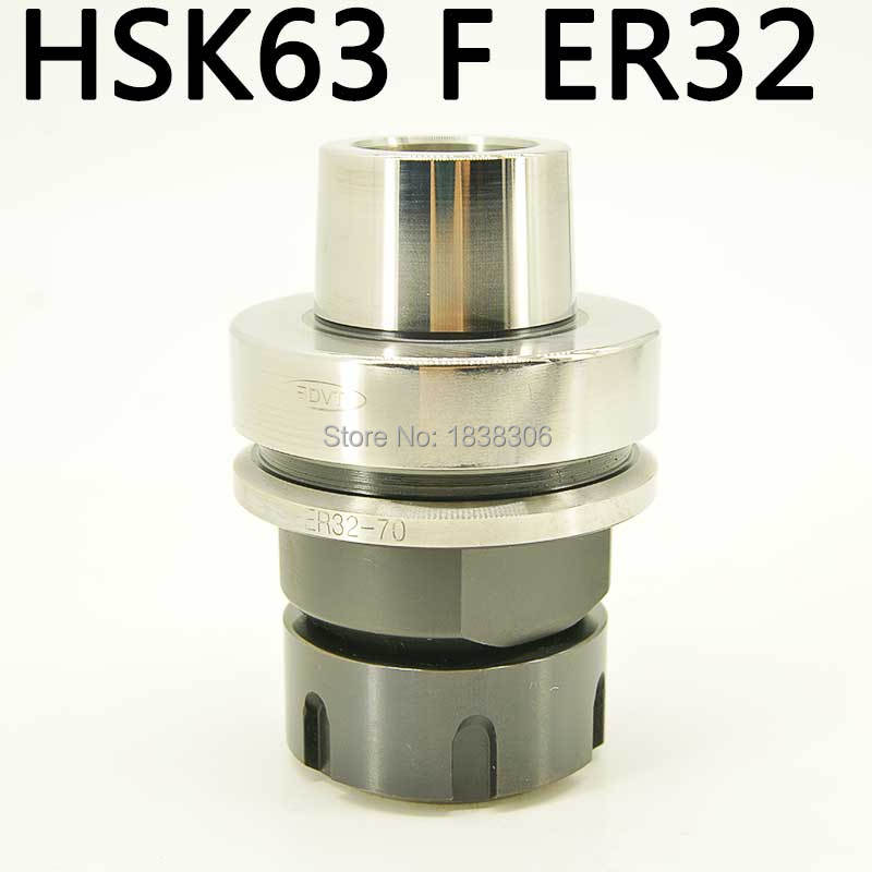 1 PCS ER32 HSK63 Toolholder Collet Chuck Tool Holder CNC Milling lathe Tool Holder G2.5 30000RPM for machine to cutting 1 pcs din2080 nt30 er16a 35 collet chuck holder for cnc milling lathe tools