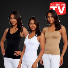 CIVS-035 women body shaper plus size bra cami tank top slimming vest corset shapewear slim up lift