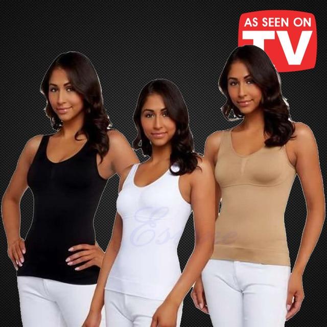 8d5a023b59739 CIVS-035 women body shaper plus size bra cami tank top slimming vest corset  shapewear slim up lift