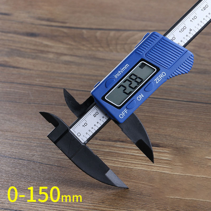 0 150mm ABS Digital Electronic Vernier Calipers LCD Rule Pachometer Gauge Micrometer Thickness Measuring Tool in Calipers from Tools