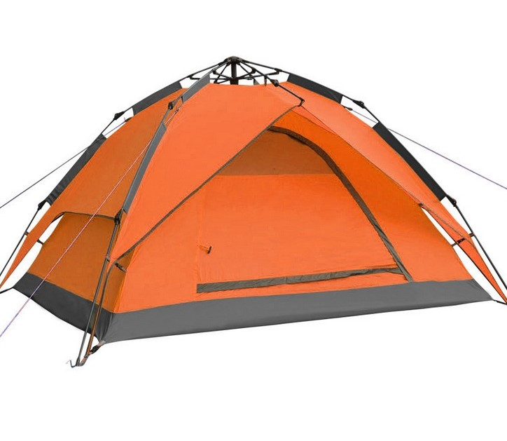 Top Brand Quality Double Layer 3 4 Person Rainproof automatic Ourdoor Camping Tent for Hiking Hunting Adventure Picnic Party high quality outdoor 2 person camping tent double layer aluminum rod ultralight tent with snow skirt oneroad windsnow 2 plus