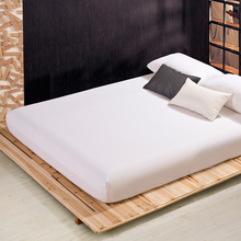 Fitted Sheet Mattress Cover Solid Color Sanding Bedding Linens Bed Sheets With Elastic Band Double Queen