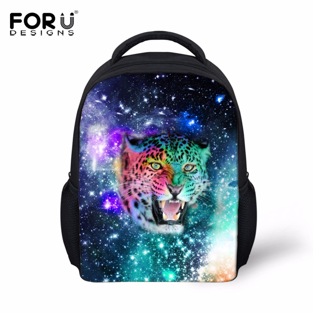 FORUDESIGNS Mini Casual Backpack Kids 3D Galaxy School Backpacks for Children Cool Animal Tiger Small Bag Pack Boys Book Bolsas