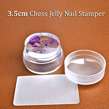 1 set The new nail printing tools Transparent seal head frosted seal 3.5 cm pieces silicone seal stamp Free Shipping