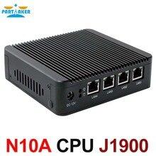 Без вентилятора Мини-ПК Настольный ПК J1900 с 4 ядра 4 * intel WG82583 Gigabit LAN брандмауэр многофункциональный маршрутизатор