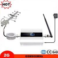 Mini Display LCD GSM Repetidor de Sinal De Celular GSM Impulsionador GSM 900 MHz amplificador celular kit completo