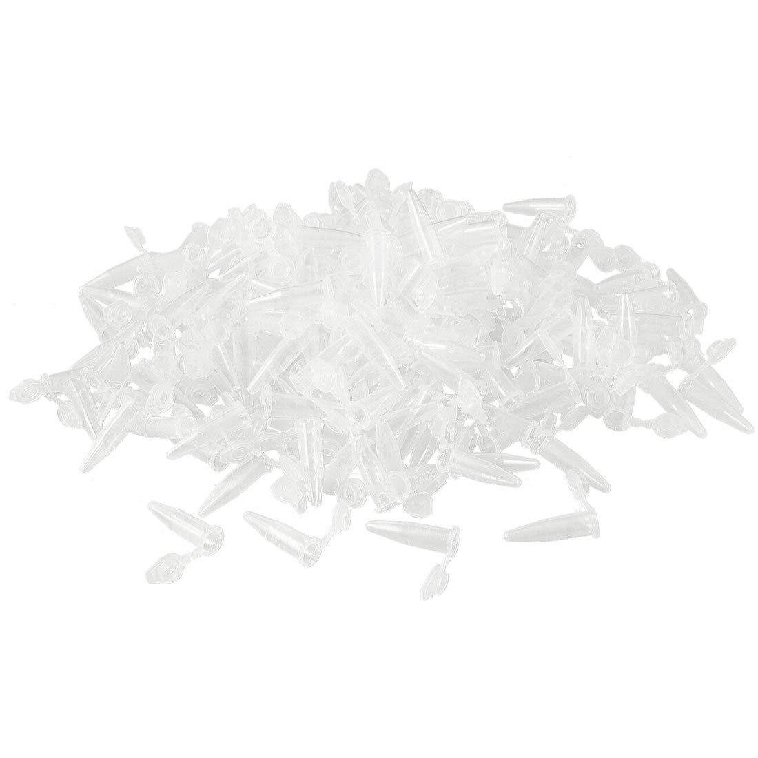 SOSW-1000 Pcs Laboratory Clear White Mark Printed Plastic Centrifuge Tube 0.5ml