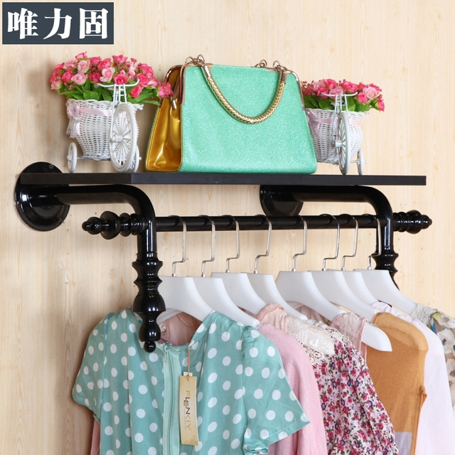 Weili solid clothing store decoration clothing store display racks ...