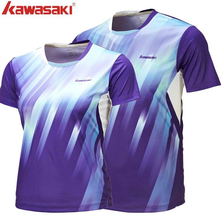 Prix pour Kawasaki haute qualité amateurs de badminton t-shirts respirant en plein air sport vêtements pour hommes et femmes st-16125 16225
