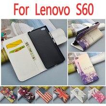 Роскошный кожаный чехол для Lenovo S60 S60T/S 60 т 60 т откидная крышка корпуса с LenovoS60 LenovoS60T телефон чехлы
