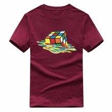 Cubo de Rubik Camisas Impressão T Homens & Das Mulheres Design Moda Verão O-pescoço Plus Size 5XL Manga Curta do big