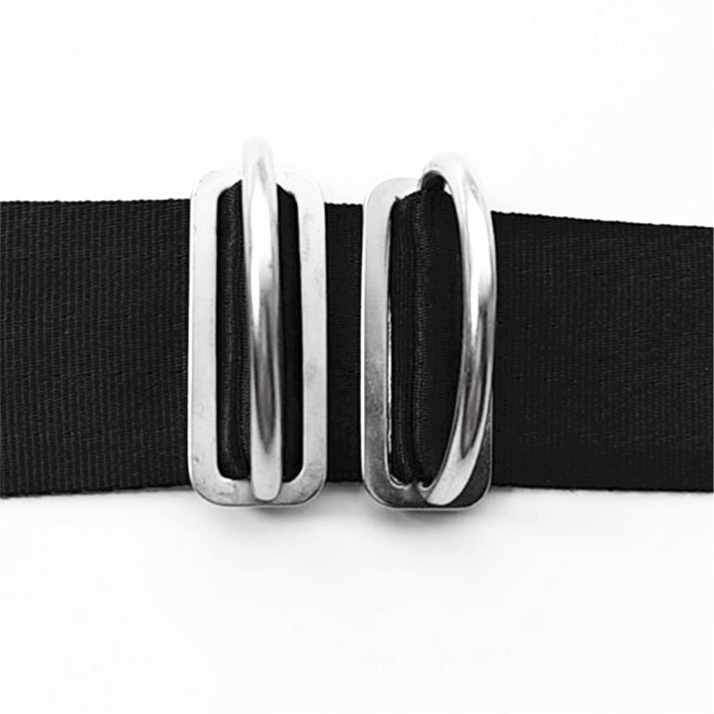 Perfeclen Weight Belt Keeper Slider Webbing Retainer With 316 Stainless Steel D Ring For 2' Scuba Diving Surfing Swimming Sport