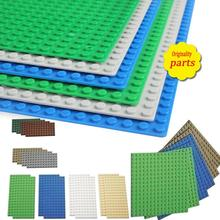16*16 16*32 Dots Base Plate For Small Bricks Baseplate Board DIY Building Blocks Compatible with Duplo Toys For Children стоимость
