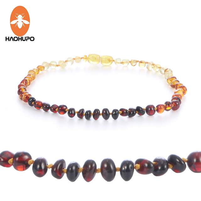 HAOHUPO Baroque Amber Necklace for Children Authentic Genuine Polished Cherry Co