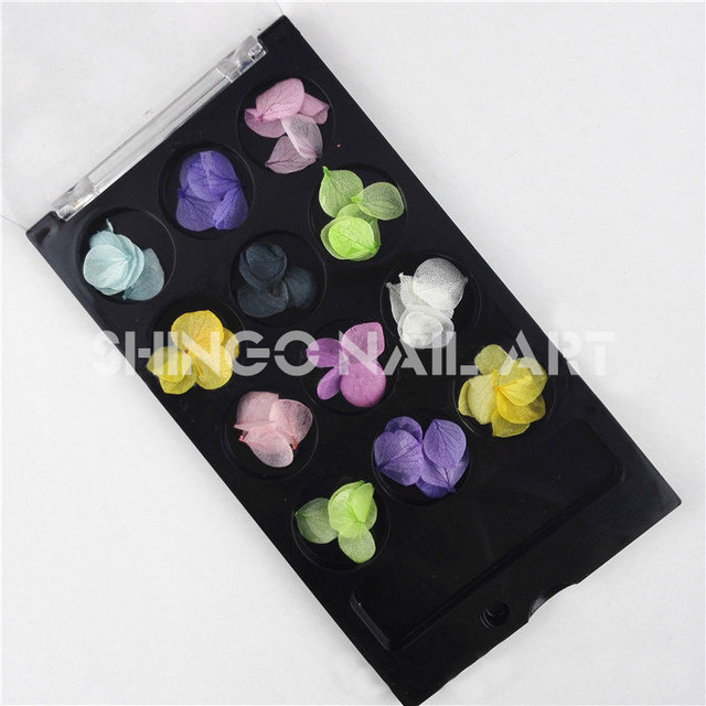 latest Japanese fashion Nail Art Real Dried Flower petals Decoration ...