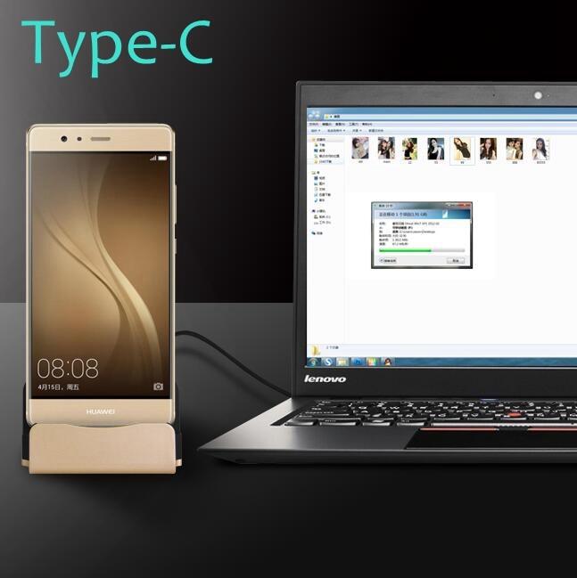 P9 Plus USB Type-C Fast Charge Dock Station Sync Desktop Stand - Reservdelar och tillbehör för mobiltelefoner