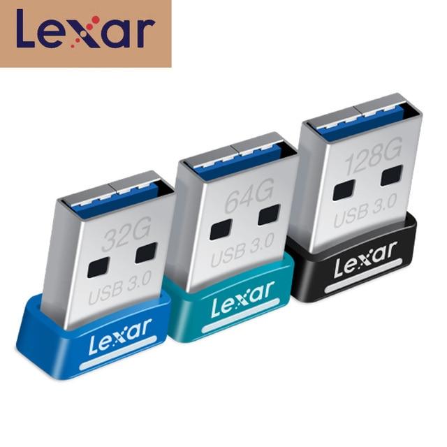 100% Original Lexar USB 3.0 flash drive JumpDrive S45 32GB pen drive 64GB 128GB high speed 150MB/s Mini Car usb stick pendrive