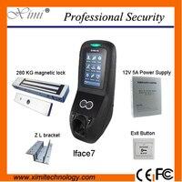 Multibio700/iface7 лицо recognization система контроля доступа с 12V5A источника питания, 280 кг магнитный замок и кнопка выхода, кронштейн