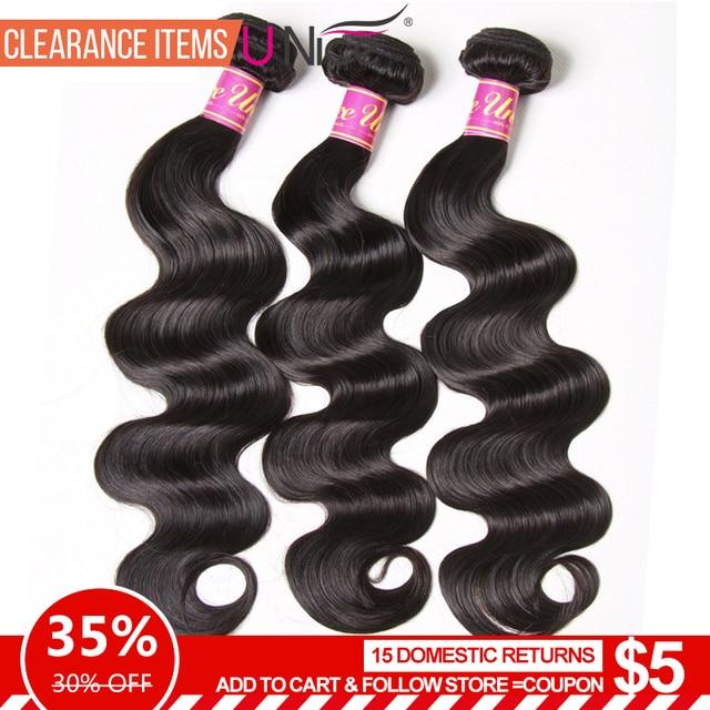 UNICE CHEVEUX Brésiliens Corps Vague Cheveux Weave Bundles Couleur Naturelle 100% de Cheveux Humains tissage 1/3 Pièce 8-30 pouce remy Extension de Cheveux