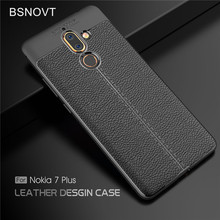 For Nokia 7 Plus Case Shockproof Luxury Leather Anti-knock Phone Cover Funda 6.0 BSNOVT
