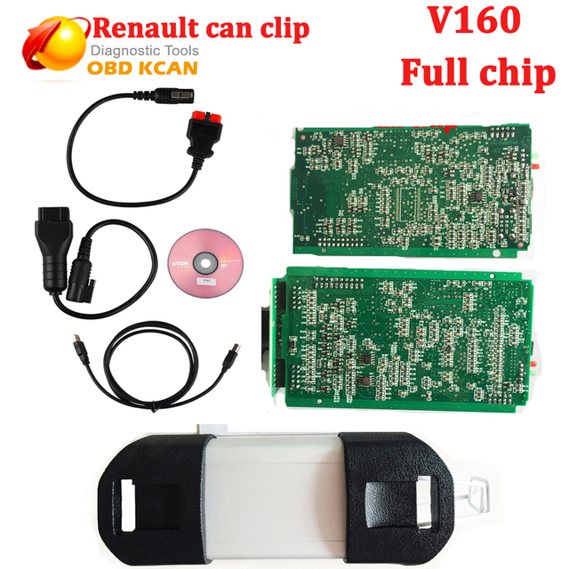 Lo nuevo V160 de Chip Completo Puede Acortar Para Renault puede acortar Buena Placa PCB Interfaz Renault Puede Acortar OBD OBD2 Herramienta de Diagnóstico Del Escáner