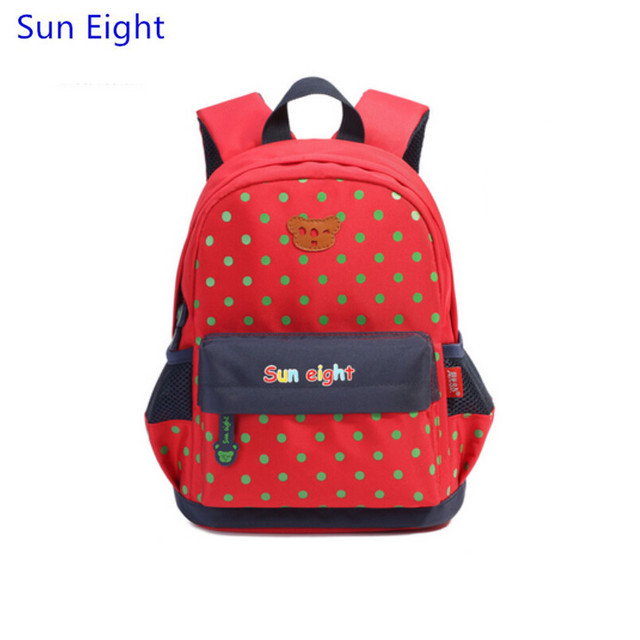 Sun Eight brand red dot small kindergarten backpack baby rucksack ...
