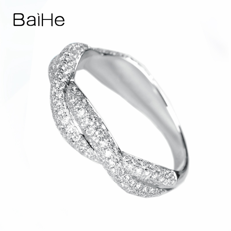 BAIHE Solid 14K White Gold 1ct Certified H/SI Round 100% Genuine Natural Diamonds Engagement Women Trendy Elegant unique RingBAIHE Solid 14K White Gold 1ct Certified H/SI Round 100% Genuine Natural Diamonds Engagement Women Trendy Elegant unique Ring