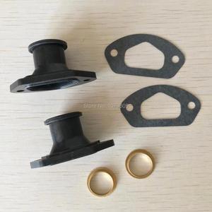 Image 4 - 2 conjuntos de peças de serra de escape, manopla de admissão com anel e junta para 45cc/4500 52cc/5200 58cc/peças chinesas da motosserra 5800