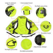 Lixada Professional Fishing Vest General Size Multi Function Adjustable Mesh Vest  Outdoor Fly Fishing Vest for Pesca