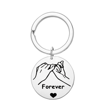 Stainless Steel Forever Charm Keychain Boyfriend Girlfriend Keyring Husband and Wife Gift Valentines Day Gifts