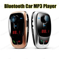 Universal Wireless Bluetooth Car Kit FM Transmitter MP3 Player With Audio USB Car Charger Hands free