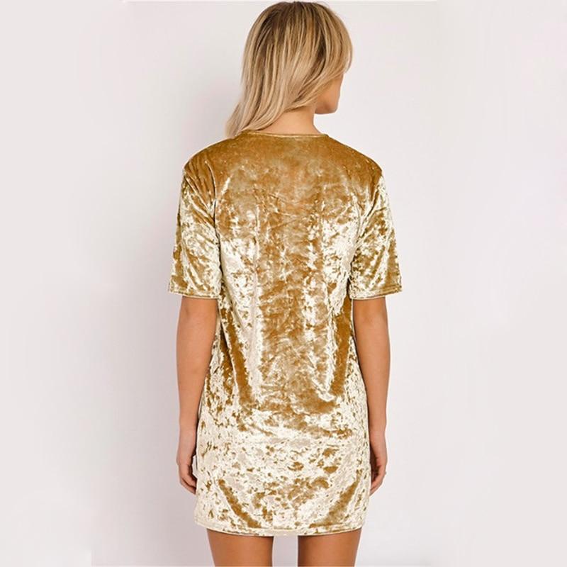 Spring Summer velvet dress women short-sleeved HTB1B fillDH8KJjy1zeq6xjepXa3